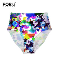 FORUDESIGNS Summer Style Flower Underwear Women M L XL Sexy Ladies Girls Seamless Panties Briefs Intimates