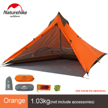 Naturehike Spire 1 Person Tentung kalis air Tenda Ultralight Camping Berkelah Berkembar Tilam Double NH17T030-L