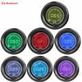"""Apoyo EE 2 """"52mm Azul Rojo 7 Colores de Luz LED de Coche Humo Auto Gauge RPM del Tacómetro Tacómetro Digital Len XY01"""