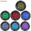 """EE apoio 2 """"52mm Azul Vermelho 7 Cores LED Light Car Auto Fumaça Tacômetro Tacho Medidor Digital De RPM Len XY01"""