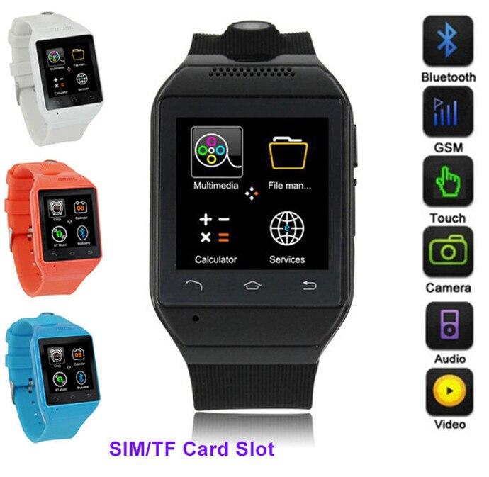 Bluetooth font b Smart b font Watch with Camera Unlocked SIM Phone Watch Sync Call Music