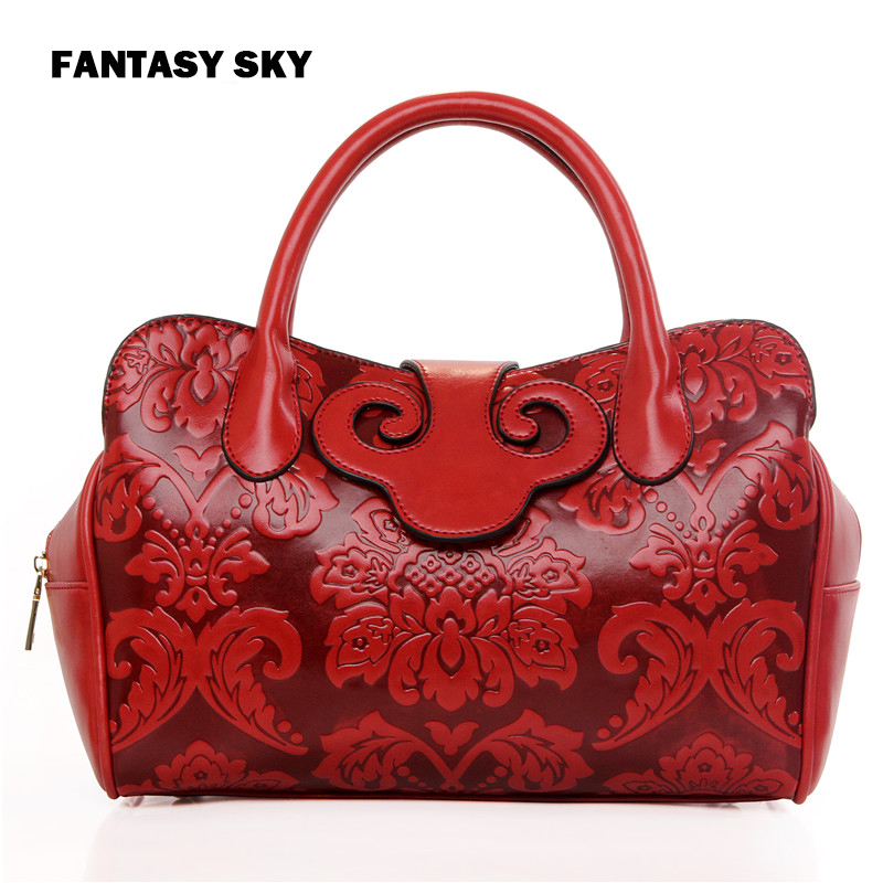 Fantasy sky fashion new Chinese national style saddle women handbags casual classic floral red tote popular vogue shoulder bag силовой удлинитель universal вем 250 термо пвс 3 1 5 30м 9634157