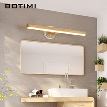 BOTIMI LED Wall Lamp For Bedroom Modern Mirror Lights Wooden Sconce Wood Luminaira Bedside Mount Reading Light