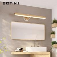 BOTIMI LED Wall Lamp For Bedroom Modern Mirror Lights Wooden Wall Sconce Wood Luminaira Bedside Lights Wall Mount Reading Light