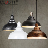 ECOBRT NEW Vintage Wine Bar LOFT Pendant Lighting Fixture Creative Industrial Cafe Restaurant Iron Ceiling Lamps