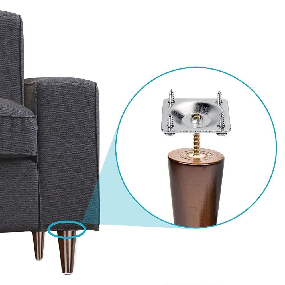 16 Set Sofa Table Leg Connector Mounting Plates Furniture Fix Attachment Bracket
