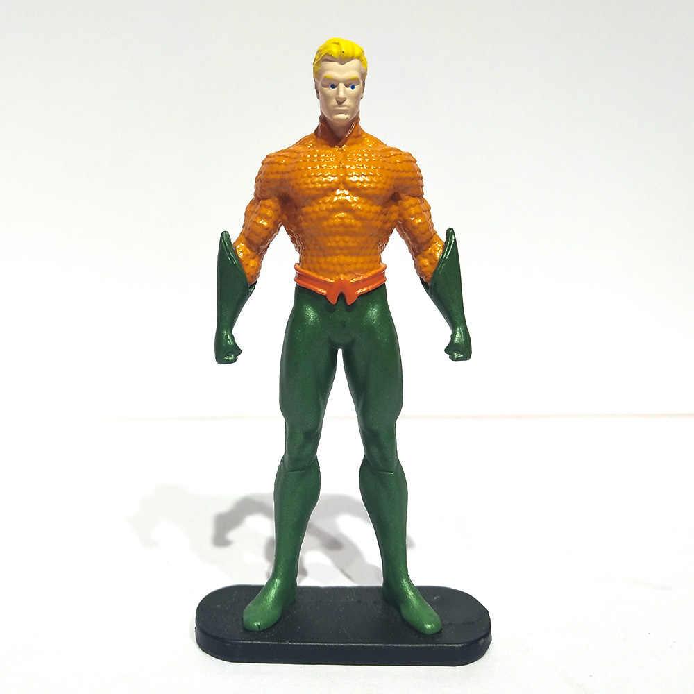 18 pcs Estilo Avenger Superheroes Batman Superman Mulher Maravilha Lanterna Verde o Flash Aquaman Figura de Ação Capitão DC Figura Presentes