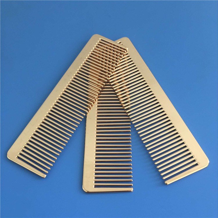 Outdoor Portable Brass Comb Hair Comb Professional Hair Salon Hairdressing Comb Hair Cutting Styling Tools Camping Equipment