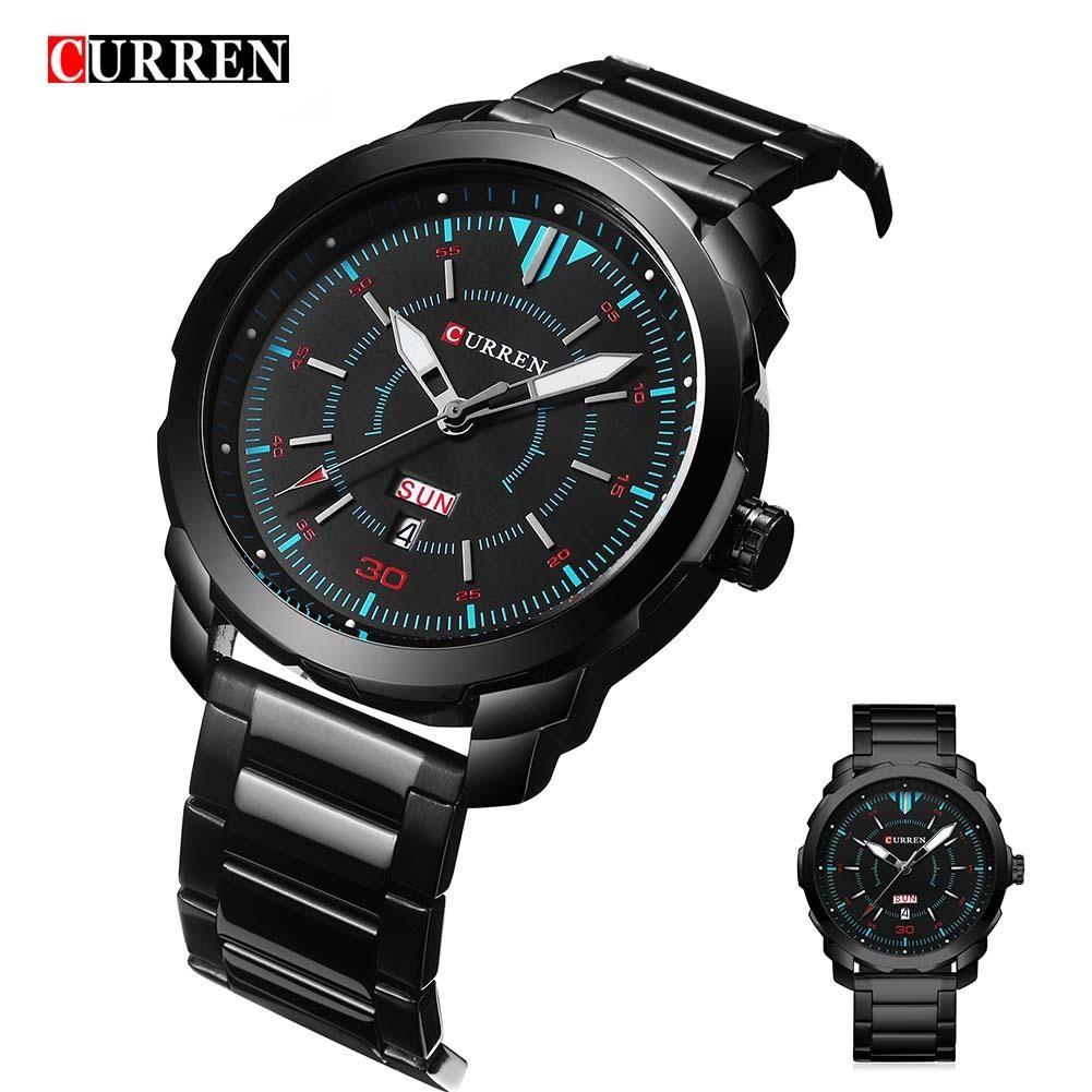 0561d5f4c6b Curren Watch Men 2018 Top Brand Luxury Relogio Masculino Quartz Watch  Fashion Casual Auto Date And Calendar 8266 in Pakistan