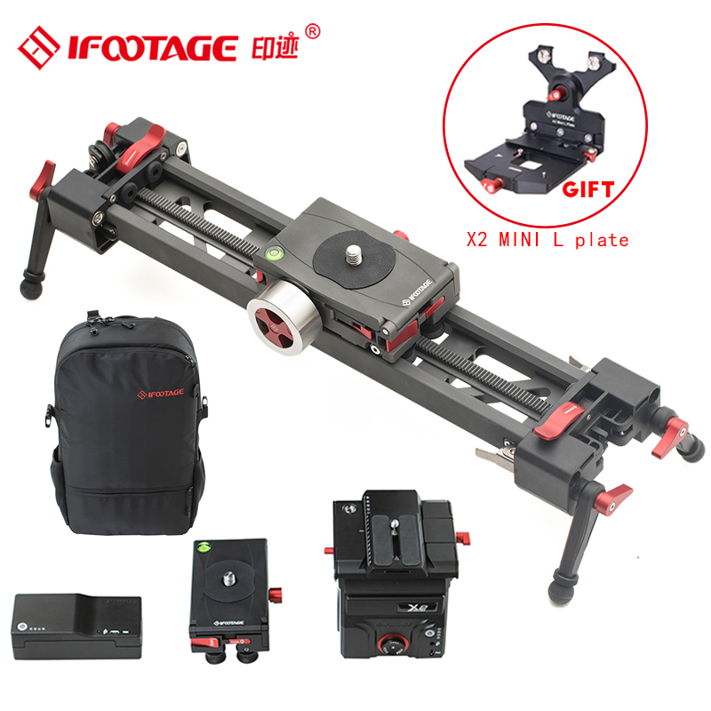 iFootage Shark automatic Mini camera slider extendable video dolly track Portable bag for DSLR Camcorders Motor