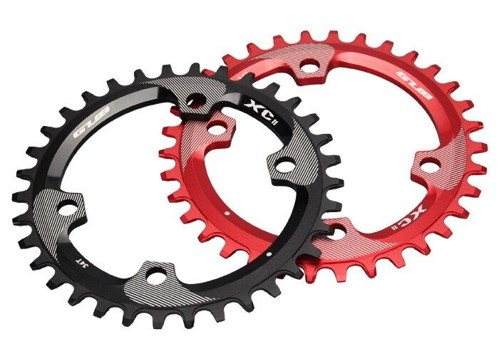 ФОТО GUB XC11 4 hole Round MTB Bike Single Chain Ring 34T Bicycle Chainring BCD 96mm Crankset round Chainwheel for M8000 crank