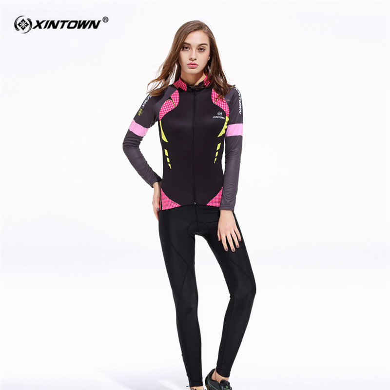 XINTOWN Breathable Long Sleeve font b Cycling b font font b Jersey b font Set B