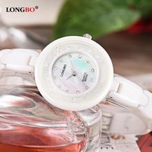 Women Watch LONGBO Brand Luxury Fashion Casual Wrist Watches Ceramic Strap Waterproof Relogio Feminino Reloj Mujer