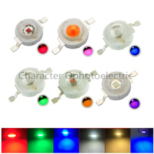 100pcs LED 1w 3w High Power Chip, RGB Red Green Blue Yellow Cold White Nature Warm IR 850 940nm Light Source