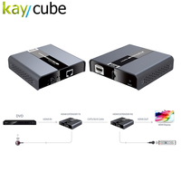 Hdbitt 4 К 60 Гц Ultra HD HDMI 2.0 Extender до 120 м CAT5/5E/6 с RS232 LK393 ИК прохода LKV393 hdbitt Hdmi Продлить 4Kx2K @ 60 Гц