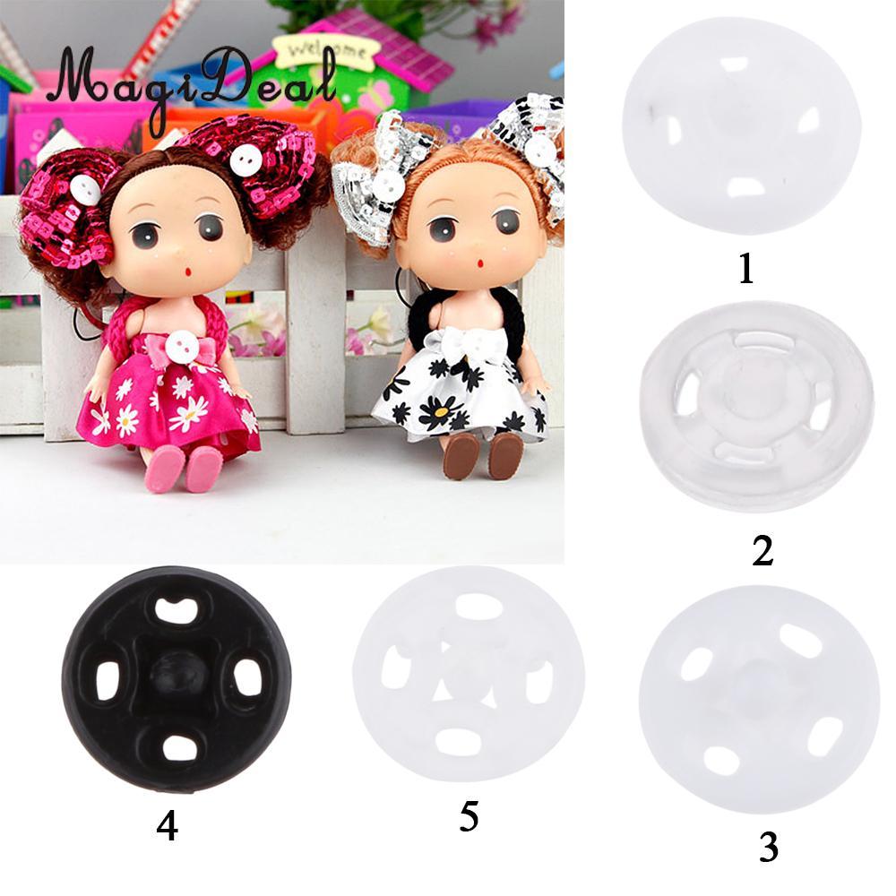 MagiDeal 300pcs//set Mini Metal Tiny Buttons for Doll Clothes DIY Accessories