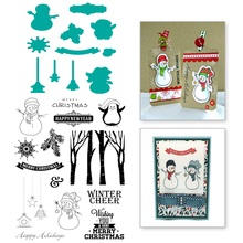Eastshape Snowman Figure Stamps and Dies Scrapbooking Easter Merry Christmas Metal Cutting for Craft Stencil