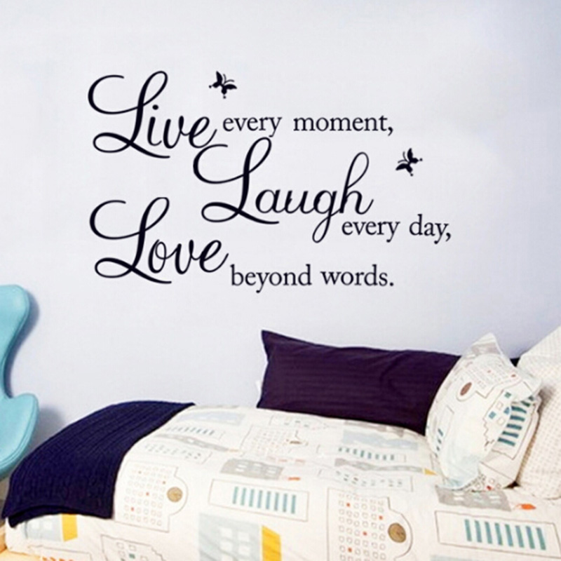 Wall Stickers For Kids Rooms Sticker Sales Promotion Live Love Laugh  Letters Waterproof Vinyl Quotes