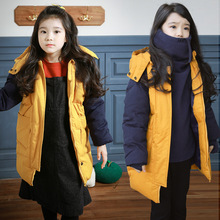 Boys Winter Jacket Real Unisex In South Korea The Long Thick Cotton Padded Clothes Mianfu Coat