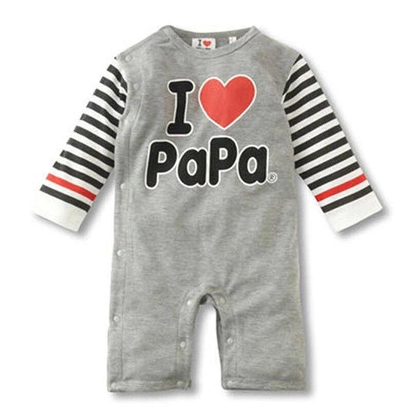 Love Mama Love Papa Baby Boy Romper Nyfødt Baby Tøj Originalitet Design Tøj Ropa Bebe Børn Småbørn Rompers HB010