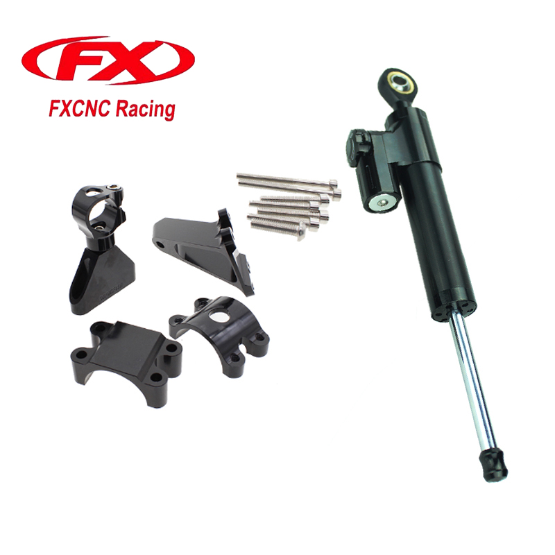 For HONDA CBR600 CBR F4i 1999-2004 Aluminum Motorcycle CNC Adjustable Steering Damper Stabilizer Mounting Bracket Support Kits  fxcnc aluminum steering damper stabilizer bracket mounting support kits fit for honda cbr600 f4i 1999 2004