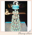 Free Shipping 7 Tier Clear Wedding Cake Stand Round Cupcake Tower Acrylic Cupcake Cake Stand