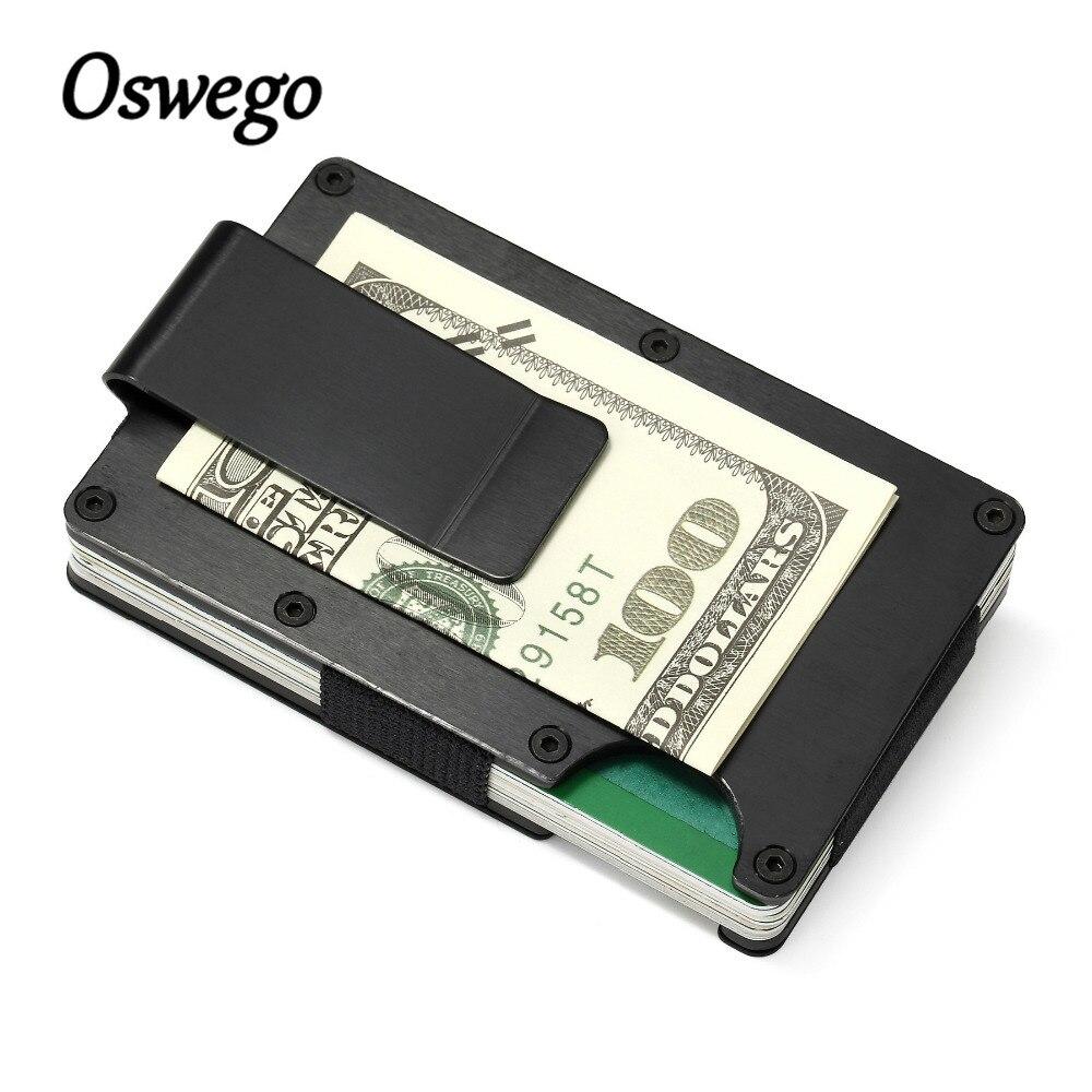 7mm vékony fém RFID pénztárca névjegykártyatartó mágnesesen árnyékolt lopásgátló nagy kapacitású kártya azonosító tartók Elasztikus márka
