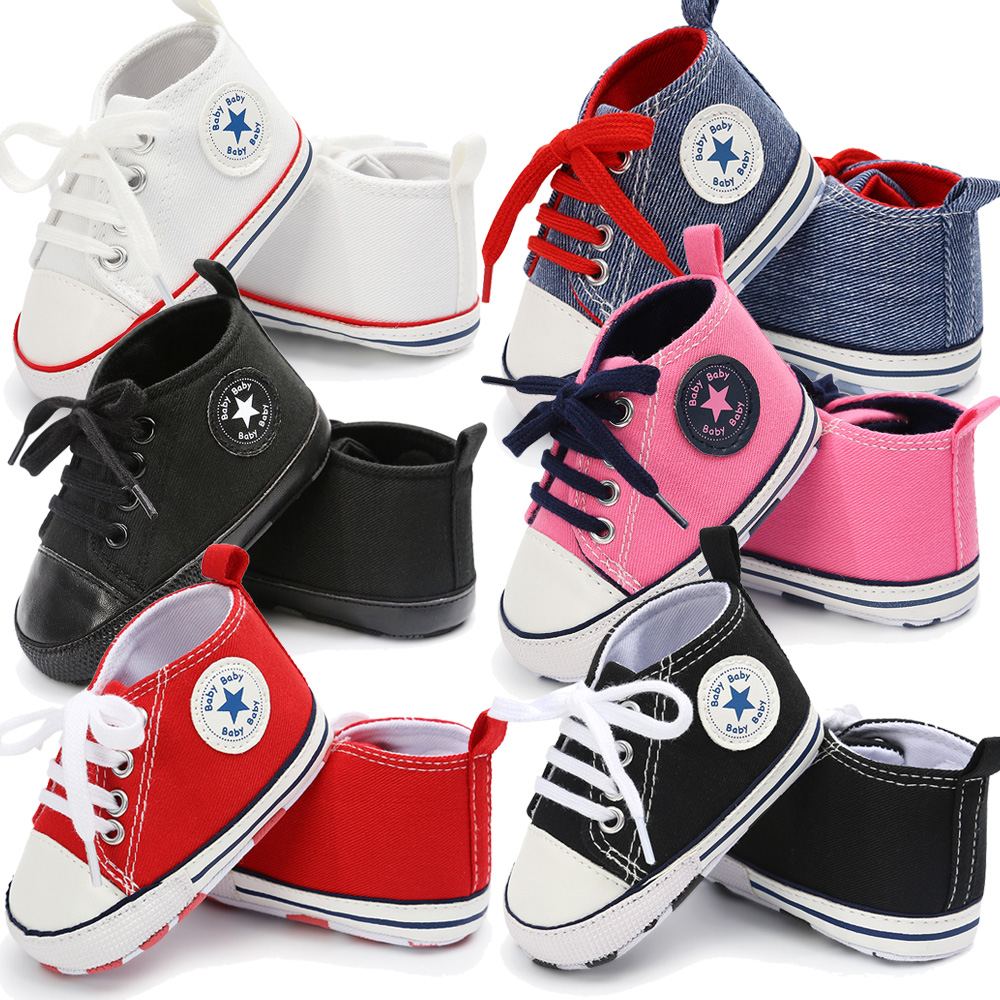 25 Colors Newborn Baby Shoes 2019 Summer First Walkers For Infant Toddler Canvas Soft Sole Anti-slip Shoes Boys Girls Footwear