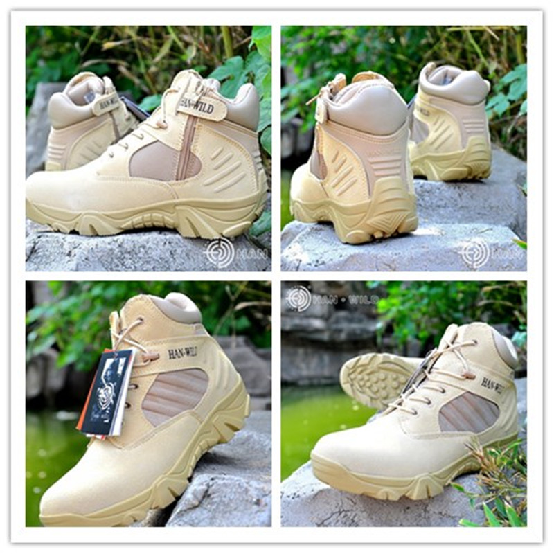 Hiking Boots Military Jungle Short Ankle Boots Leather Sneaker Desert Outdoor Hiking Tactical Hunting Hiking Shoes цена
