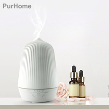 Ultrasonic Air Aroma Humidifier Diffuser Night Light Aromatherapy Essential Oil Diffuser Mist and 4 Timing With Power converter
