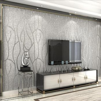 4-color modern luxury 3D relief striped wallpaper 3D embossed non-woven wallpaper roll Living room sofa TV background wallpaper