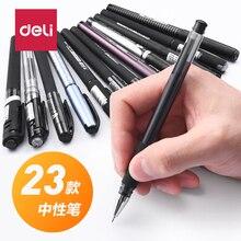 12PCS Wholesale DELI Gel Pen Black Pen Carbon Sign Pen 1.0/0.7/0.5/0.38 MM 23 Color