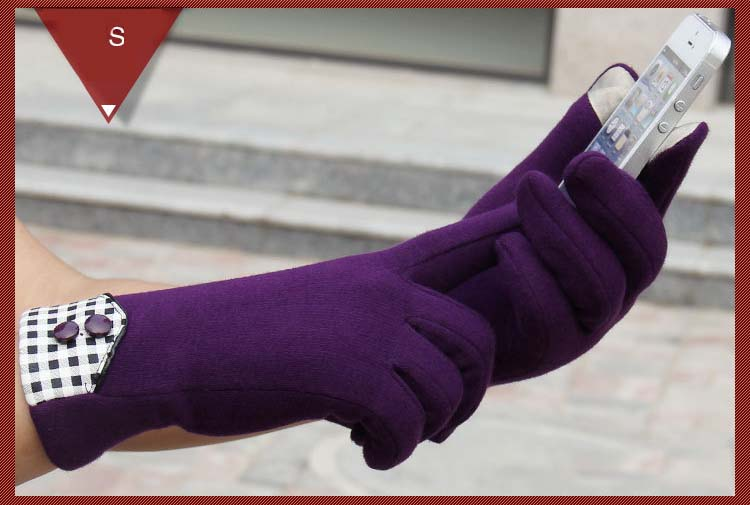 GLV956 Lady Touch screen cashmere autumn and winter warm font b gloves b font outdoor cycling