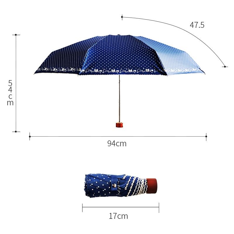 Regenschirm weiblichen Super-Mini-Regenschirme aus weißer Spitze - Haushaltswaren - Foto 6