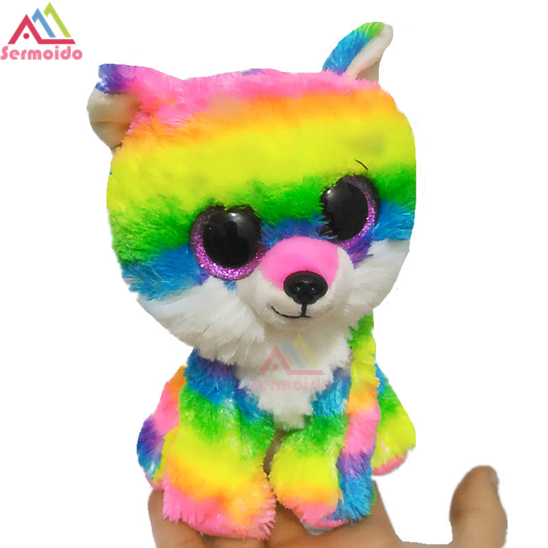 sermoido TY 6'' Beanie Boos River the Wolf Stuffed & Plush Animals Toy Doll DBP81 ty beanie babies chipper the chipmunk plush toy stuffed animal