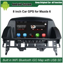 Actualizado de Radio Multimedia de Navegación GPS para Mazda 6 M6 (2002-2008) Reproductor de Vídeo Del Coche con WiFi Bluetooth Smartphone Espejo-link