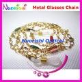 6pcs Beautiful Metal Sunglasses Eyewear Glasses Spectacle Sungass Eyeglasses Cord Chain Strap Lanyard free shipping L530