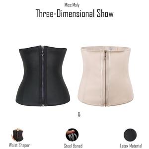 Image 4 - Miss Moly Latex Rubber Waist Trainer Body Shaper Modeling Belt Women 6XL Plus Size Cincher Corset Tummy Control Slimming Sheath