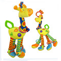 Lovely  giraffe Baby Stroller hanging bed bells  Plush Toys Baby Rattles Newborn baby  Early Educational Doll teddy
