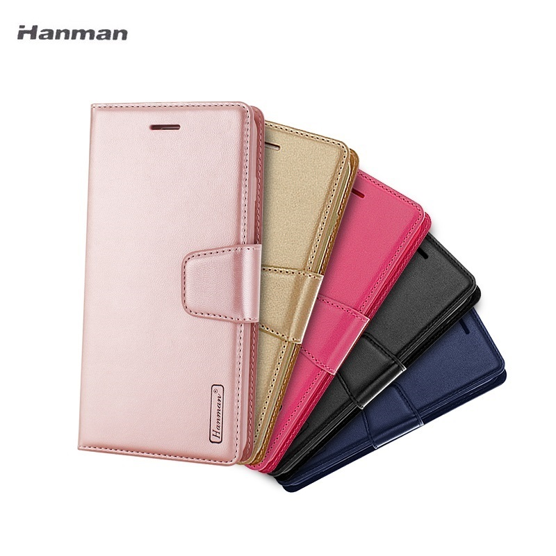 Hanman Flip Wallet Genuine Leather Case Cover Fundas For Samsung Galaxy S9 S8 Plus S7 Edge Card Stand Phone Bag Case Edge etui