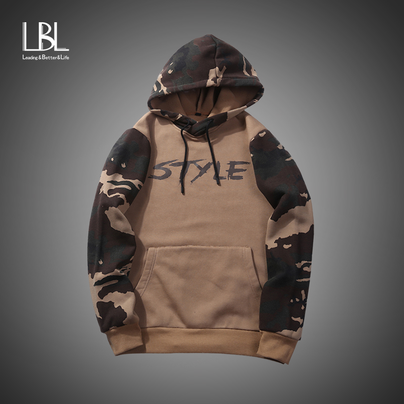 Autumn Camouflage Hooded Sweatshirts Men Brand Patchwork Hoodies Male Slim Fit Mens Fleece Tracksuit Man Pullover US/EU size XXL