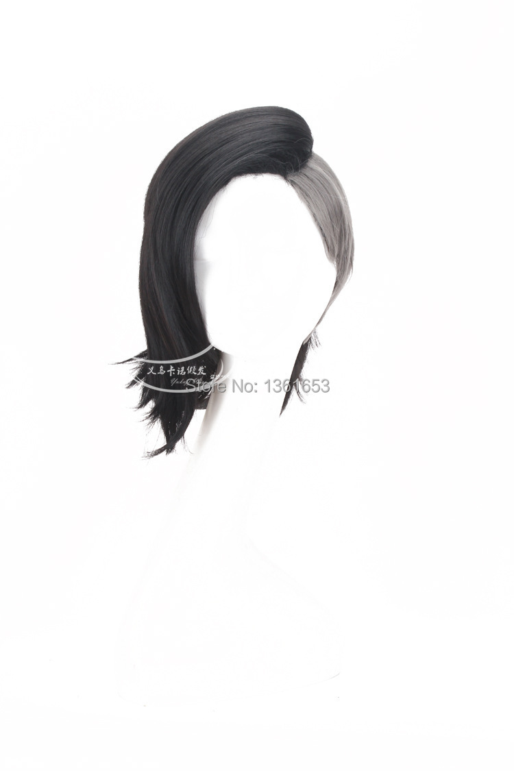 Tokyo Ghoul male and female COS wig Uta Mask Maker Wig short and long black and silver Grey Anime Cosplay Wigs