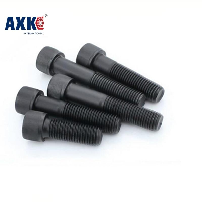 Axk Metric Thread Din912 M3 Black Grade 12.9 Alloy Steel Hex Socket Head Cap Screw Bolts M3*(3/4/5/6/7/8/9/10/12/14/15~50) Mm 100pcs lot metric thread din912 m3x8 mm m3 8 mm black grade 12 9 alloy steel hex socket head cap screw bolts
