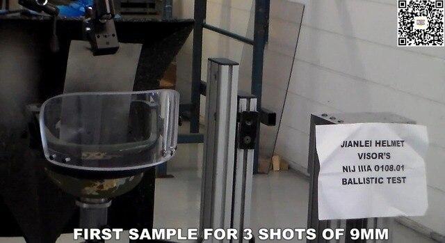NIJ IIIA 0108.01 Ballistic Visor Testing Video