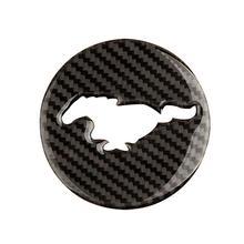 Carbon Fiber Steering Wheel Panel Trim Decor Emblem for Ford  Mustang 2015-2017 недорого