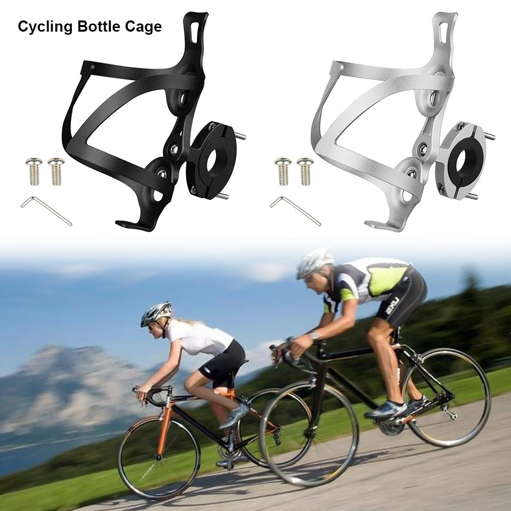 Cycling Bicycle Bike Aluminium Alloy Water Bottle Holder Cages Rack Accessories