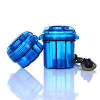 Outdoor EDC Gear Survival Capsule Waterproof Storage Container Battery Holder Box Case Tool Camping
