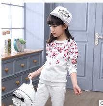 Costume for Girls Spring Kids Sport Suit Childrens Tracksuits Long Sleeve T-shirt + Pant Clothes Set Top Wear Grils 4-13T