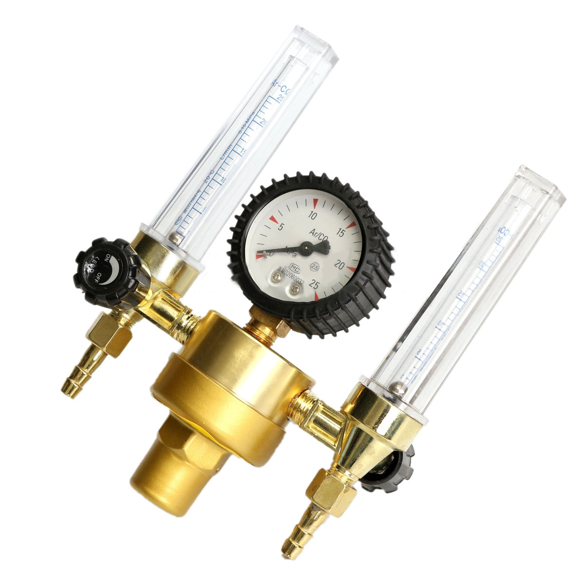 New Arrival Mayitr Brass Argon Regulator CO2 Mig Tig Flow Meter Weld Machine Double Backpurge Welder Argon Flowmeter For Welding венто argon 2
