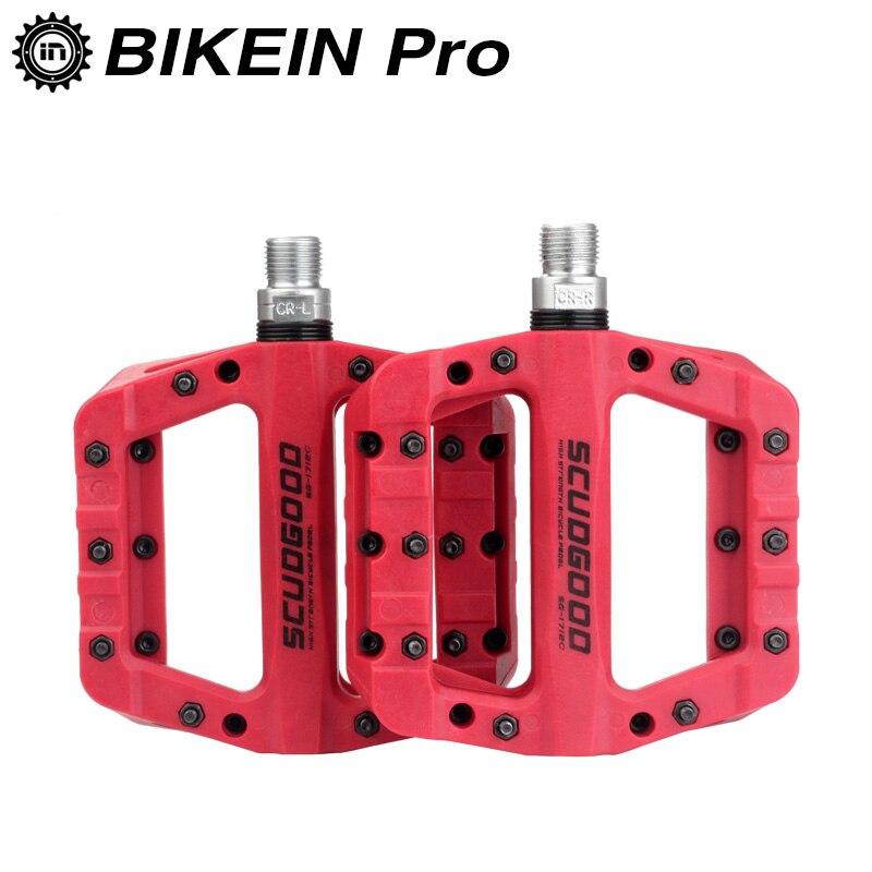 BIKEIN Cycling Mountain Bike Nylon Platform Pedal 9 16 Red Orange Black Blue Yellow Cycling MTB